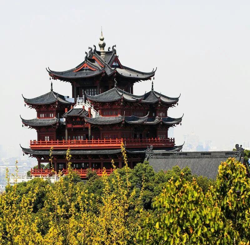 杭州城隍阁,发现新西湖十景吴山天风景区之美图2