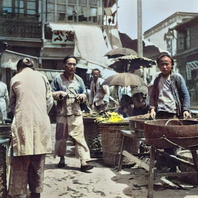 杭州旧影1908年,江南水乡百姓生活图1