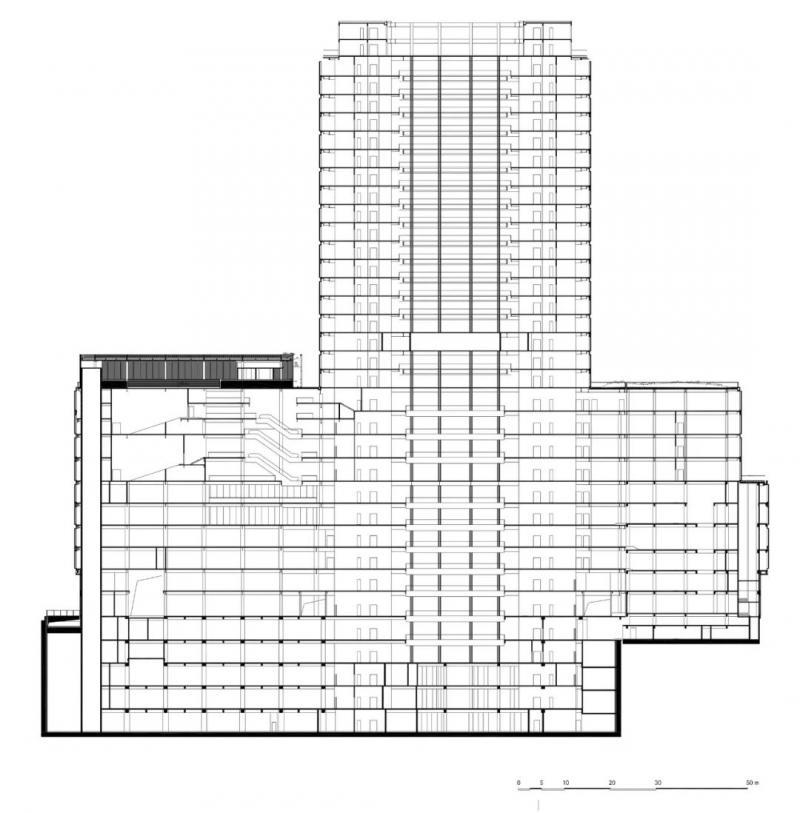 130米高,杭州新地标,圆角三角形的布局,纯净现代的立面