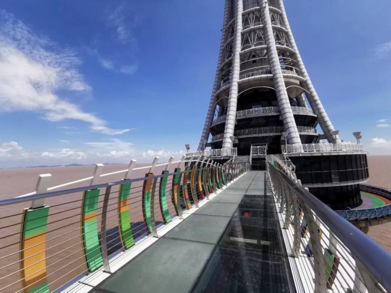 """国内首条!这么美的""""海上玻璃景观道""""就在杭州湾跨海大桥!"""