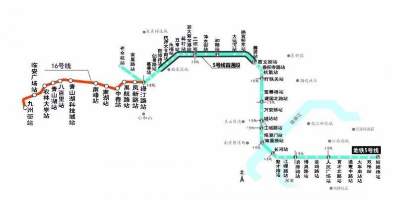 官宣了,杭州地铁5号线5月份全线开通!