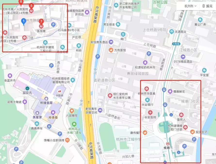 地铁5号线后通段开通,去杭州这些医院更方便!哪个站点最近?