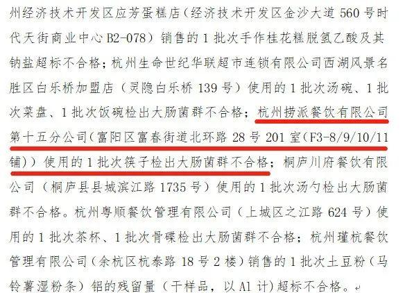 """海底捞火锅杭州富春新天地店登上杭州市市监局的""""抽检黑榜""""......"""