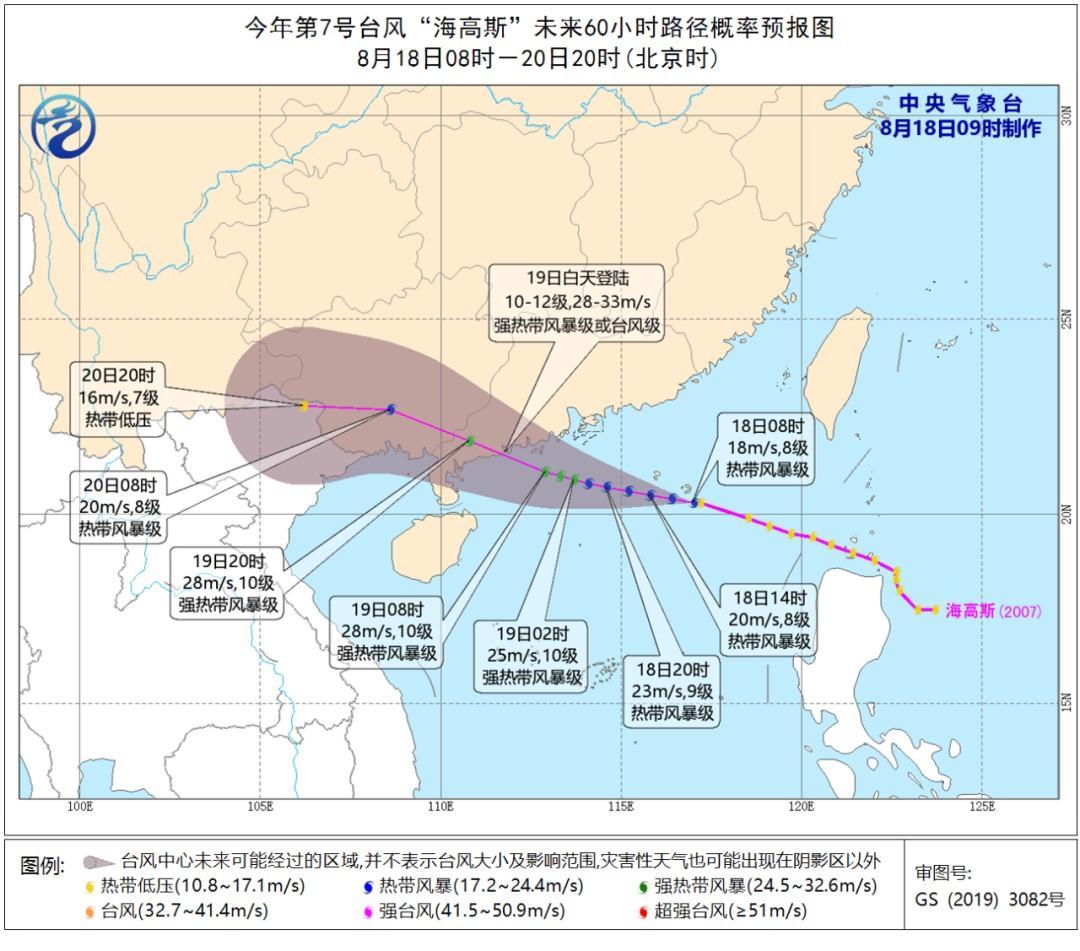 """刚刚,7号台风""""海高斯""""生成!对浙江有影响吗?"""