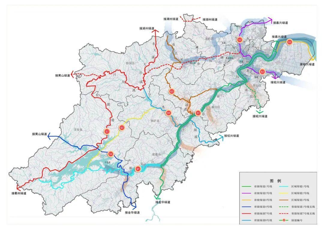 9条绿道串联起杭州大部分水系!经过你家门口吗?