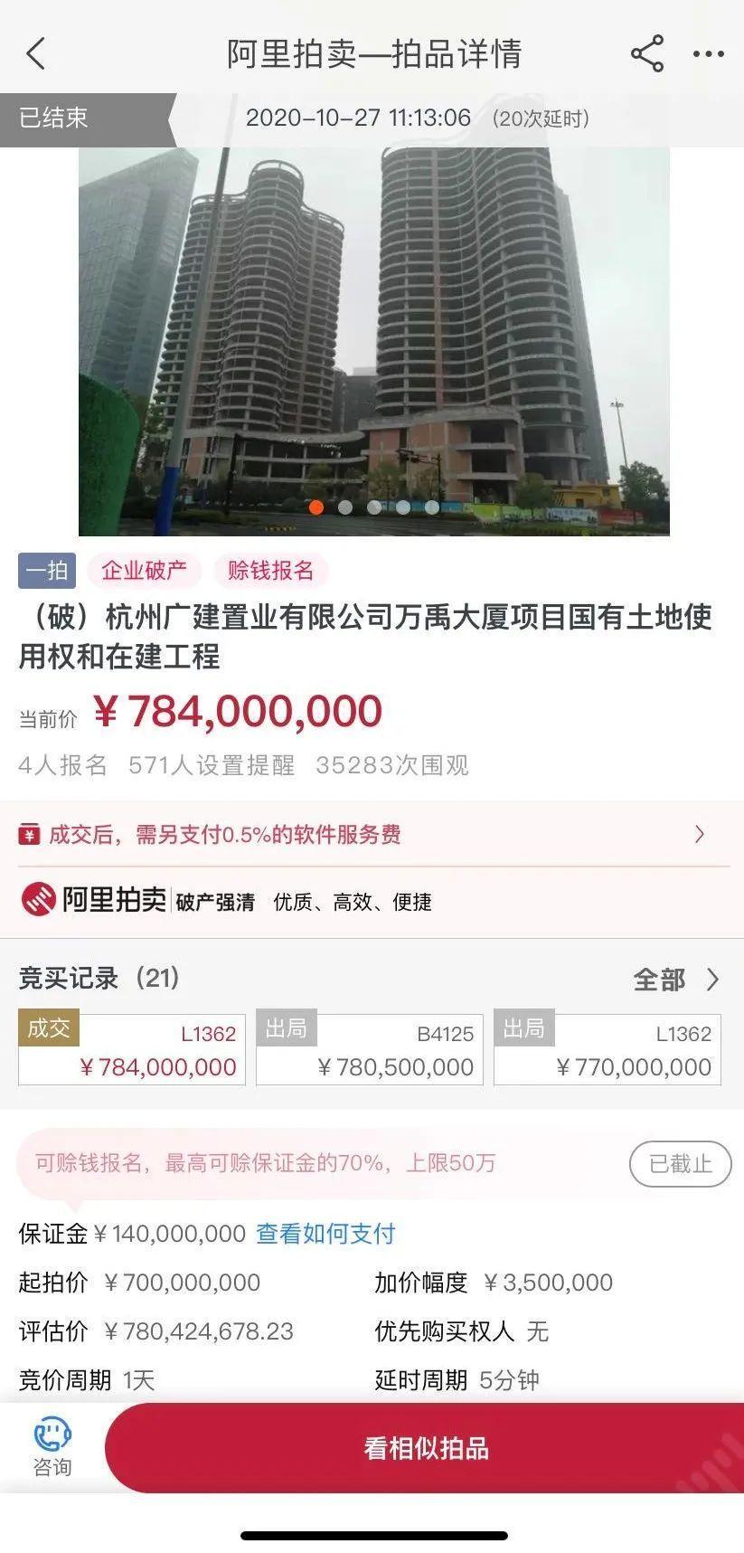 """7.84亿成交,杭州停工6年""""烂尾楼""""有了新主人,可是……"""