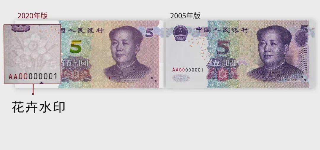 2020年版第五套人民币5元纸币即将发行,有哪些变化?