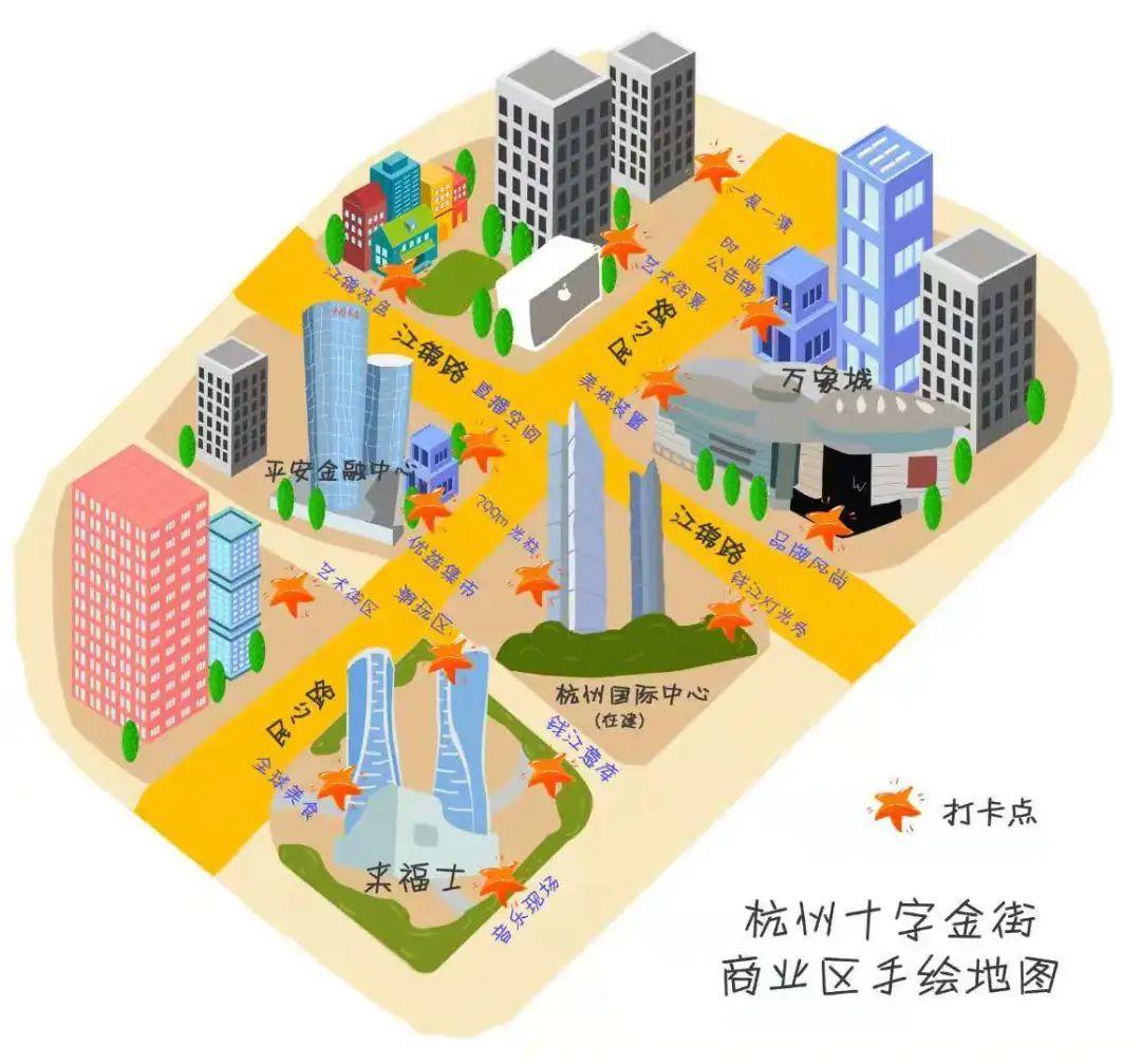 """杭州钱江新城将有一条""""十字金街"""",下月开街!图2"""