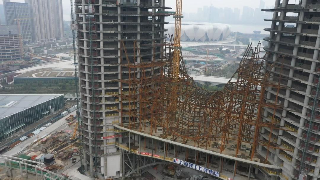 最新进展!钱塘江南岸新地标——杭州之门春节前结顶!