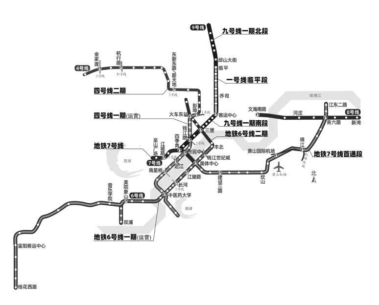 2021年,杭州还将迎来5条地铁新线路!