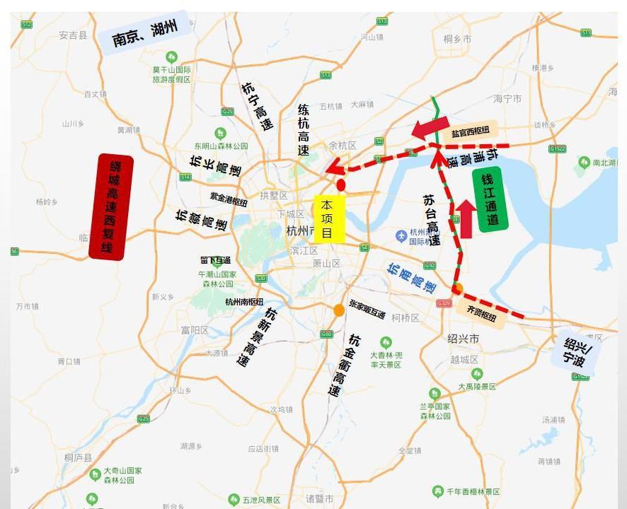 今天起,G2504杭州绕城高速公路部分路段实行封闭同行!图2