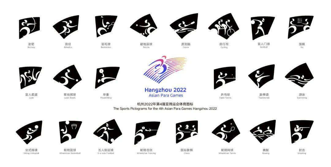 杭州亚残运会体育图标正式发布!