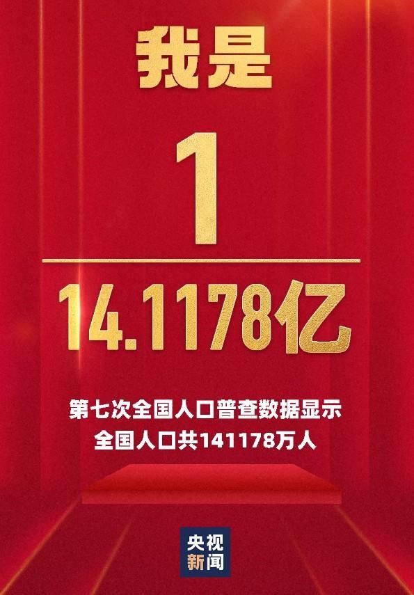 第七次全国人口普查结果出炉,全国人口共14.1178亿!