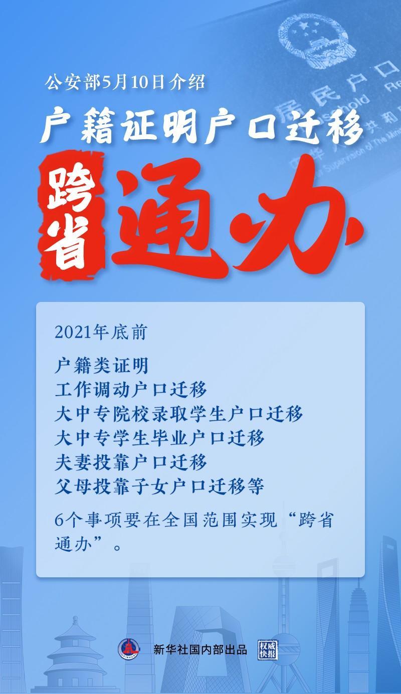 """户籍新政发布:户口迁移全国范围实现""""跨省通办""""!"""