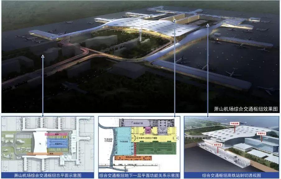 铁路杭州萧山机场站要来了,计划力争今年年底开工!