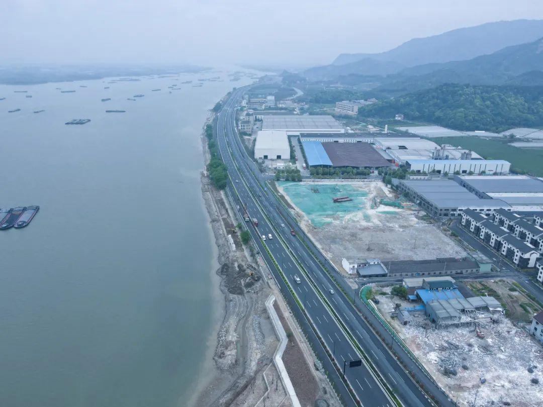 杭州湘湖·三江汇未来城市先行实践区沿江断头路即将打通,连接萧山、富阳!