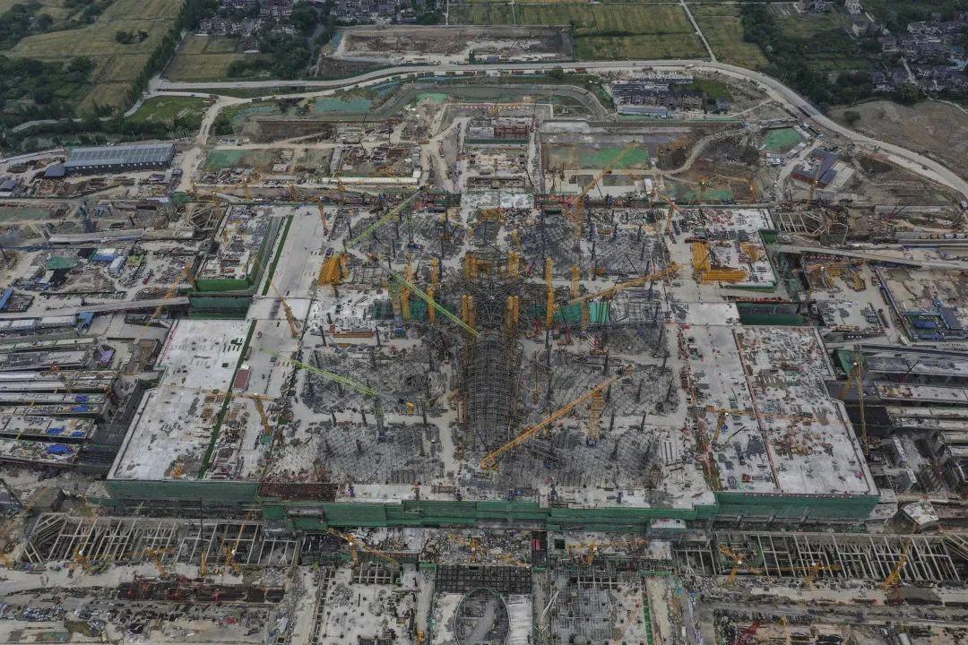 杭州云城建设最新进展!西站8月底站房主体结顶!图2