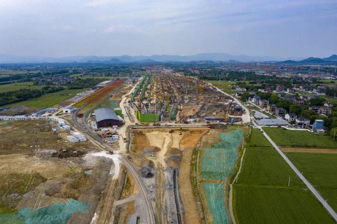杭州云城建设最新进展!西站8月底站房主体结顶!图3